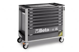 Beta C24SAXL/8-G Mobile Roller Cab With Eight Drawers (Gray)